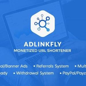 AdLinkFly v6.4.0 - Monetized URL Shortener